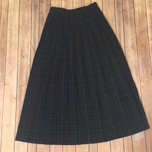 Plaid vintage long skirt SUSAN BRISTOL